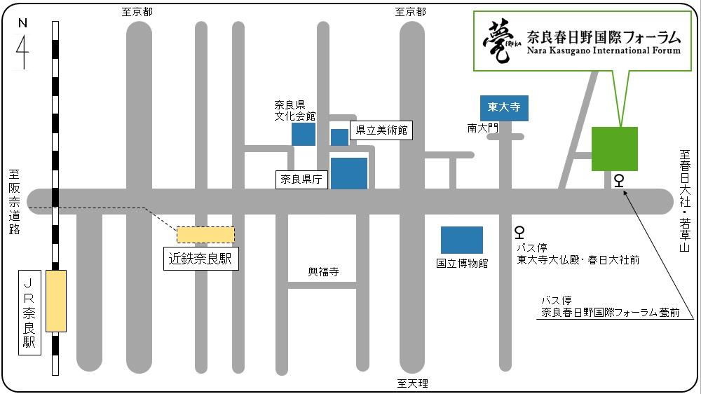 マップ「奈良春日野国際フォーラム 甍~I・RA・KA~」