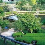 特別応接室から庭園の眺め