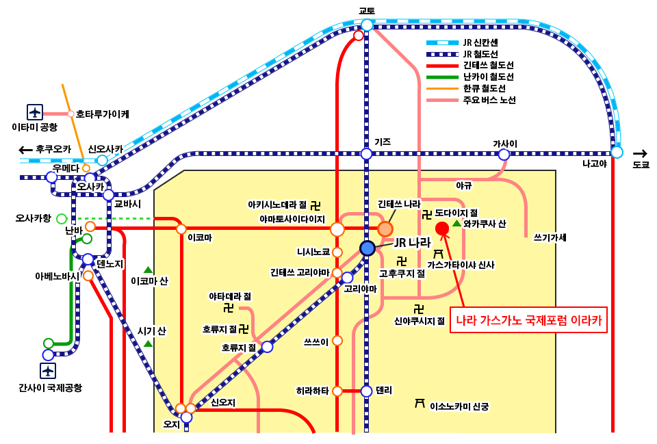 Nara Map 한글어